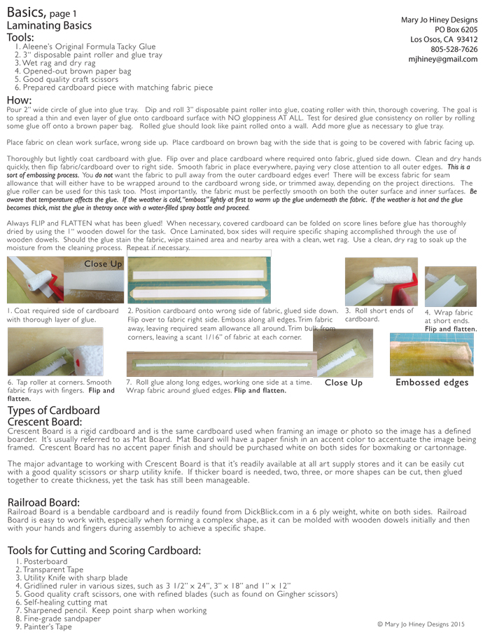 Cartonnage Laminating Basics!