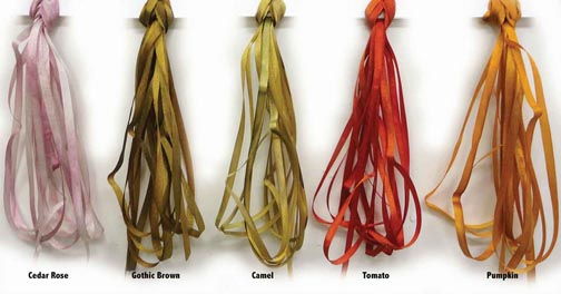 New! Autumn Shades of Hand-Dyed Silk Ribbon