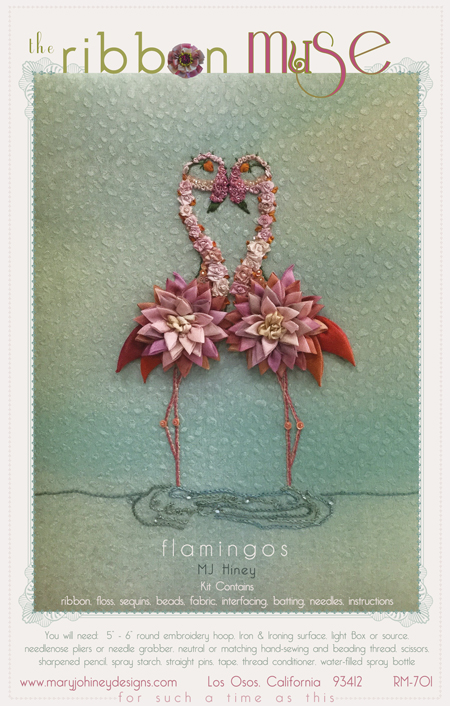 Flamingos Ribbon  Muse design from Mary Jo Hiney