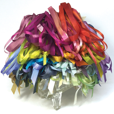 Hand-dyed silk ribbon from Mary Jo Hiney Designs