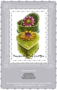Tiny Heart and Tiny Oval Cartonnage Pattern and Kit, by Mary Jo Hiney