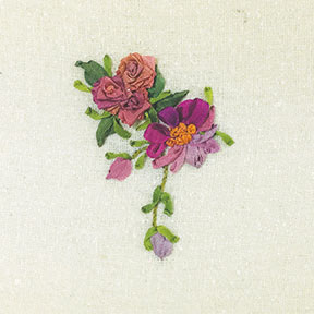 Learn the Basics silk ribbon embroidery kit, from Mary Jo Hiney Designs