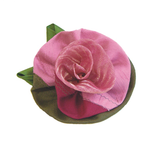 Medium-sized Gathered Rose, shown in the Innocently Optimistic coloration