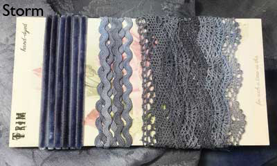 Storm hand-dyed cluny lace trim collection from Mary Jo Hiney Designs
