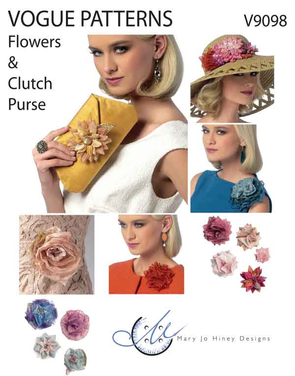 Vogue Patterns V9098 Flowers and Clutch