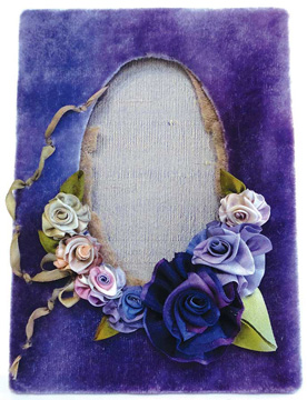 Silk Ribbon Collection shown in Violet Blue shades