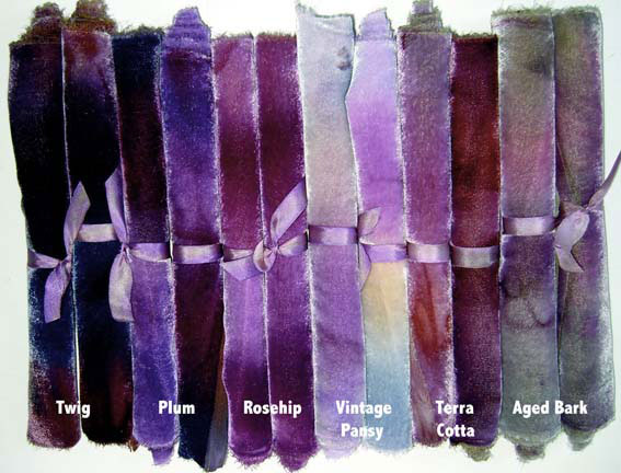 Vintage shades of Hand Dyed Silk/Rayon Velvet