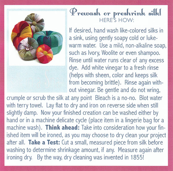 Here are simple and logical silk washing instructions!