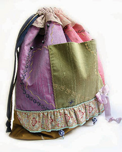 Drawstring Sack, shown in the Captivating coloration