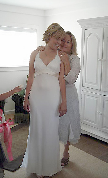 A beautiful photo of Marissa with her sweet mama
